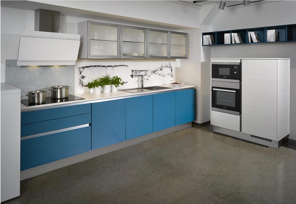 modrá kuchyňa Oresi