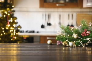 vianočná výzdoba v kuchyni